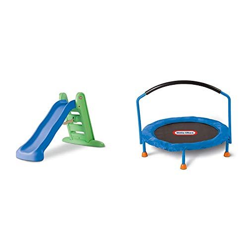 Little Tikes Easy Store Large Slide & 3' Trampoline – Amazon Exclusive