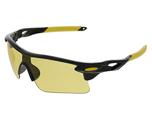 Vast Special Night Driving Biking 7 Layer Anti Glare Wrap Around Smart Sports And Cycling Glasses/Goggles/Sunglasses (Sporty HJ C1)