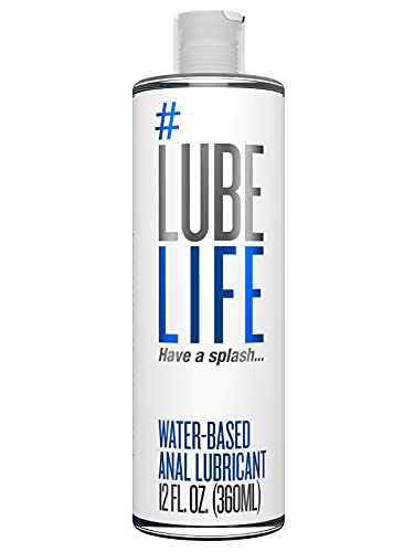 #LubeLife Water Based Anal Lubricant, 12 Ounce Backdoor Lube for Men, Women and Couples (Free of Parabens, Glycerin, Silicone and Oil)
