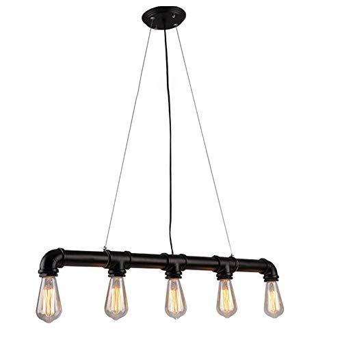 Raelf 5 retro industrial individual candelabros metal tubo de agua colgante luz de techo E27/E26 bar cafetería decoración techo lámpara colgante lámparas iluminación lámpara de techo