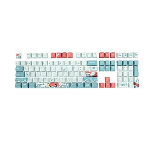 juqingshanghang1 5 Seiten 108 Sea Keycap Mechanische Tastatur Keycaps Geeignet für Computerperipheriegeräte (Color : Blue)
