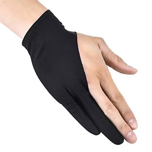 Dibiao Unisex Artiest Anti-fouling Handschoen Twee Vinger Handschoen 1 PC Past voor Grafische Tekening Tablet Grafische Monitor
