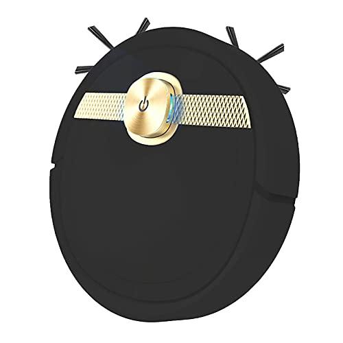DSMGLRBGZ Robot Aspirapolvere Lavapavimenti, USB 3 in 1 Riduzione del Rumore Rilevamento Sensibile Copertura Completamente,Nero
