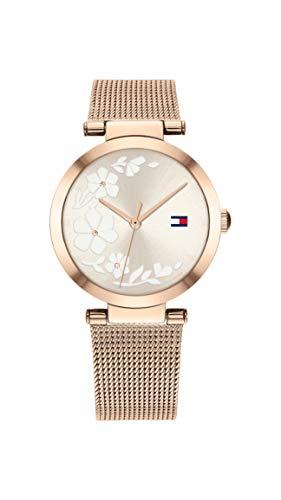 Tommy Hilfiger Reloj Analógico para Mujer de Cuarzo con Correa en Acero Inoxidable 1782240