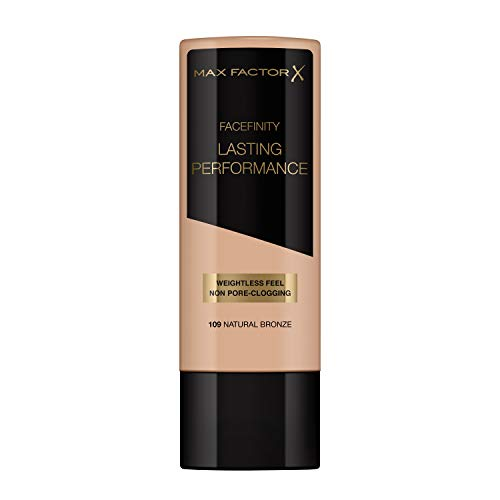 Max Factor Lasting Performance Foundation Natural Bronze 109 – Langanhaltendes Flüssig Make-Up – Für die perfekte, schwerelose Grundierung – 1 x 35 ml