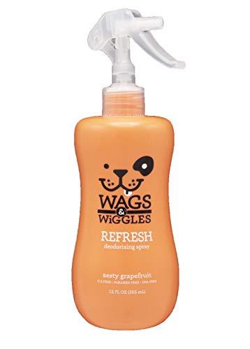 Wags & Wiggles Refresh Dog Deodorizing Spray in Zesty Grapefruit | Long Lasting Dog Grooming...