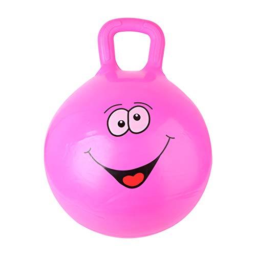 BESPORTBLE Pelota saltadora para niños con asa, 52 cm, PVC, pelota de entrenamiento, pelota de salto hinchable para fitness, deportes, hogar, guardería, juguete
