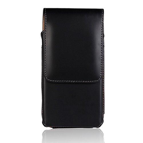 【P-Rize】iPhone 対応 縦型 ベルトクリップ ホルダー ポーチ型 ケース 腰 装着 アイフォン スマホ 携帯 ベルト通し ウエストポーチ (5.5インチ(iPhone X / 8Plus / 7Plus / 6Plus ))