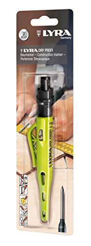 Lyra 4498101 Dry Profi Marker, 1 Stück, Baumarker für alle Oberflächen, Druckbleistift mit integriertem Spitzer-4498101