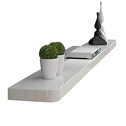 Cayun Origineel handmatig gepolijst hout Tv-kast console TV-set-topboxen en multifunctioneel geheugen-rek opslagrek wandhouder plank gfsddssxsz 120x25cm (47x10in) wit