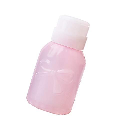 MERIGLARE Professionnel Vide Pompe Distributeur Gel UV Polonais Nail Art Polonais Bouteille Propre - Rond rose
