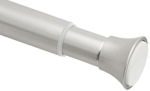 Amazon Basics Teleskop-Duschvorhangstange zum Einklemmen, 91-137 cm, Nickel