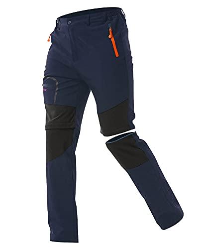 ZOEREA Pantalones Aire Libre de Hombre Convertible Pantalones Cortos Trekking Montaña Escalada Senderismo Secado Rápido Pantalón Funcionales