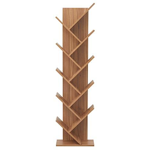 Rebecca Mobili Mueble estentería marrón, librería con 10 estantes, madera, estilo contemporáneo, salón oficina- Medidas: 160 x 44,5 x 22cm ( AxANxF) - Art. RE6029