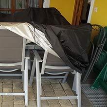 WZNING Wasserdicht, Outdoor Dining Set Abdeckung Staub- / Winddicht/Anti-UV Rechteckige Abdeckung for Sofas und Stühle in verschiedenen Größen Langlebig und schützend (Size : 150x130x90cm)