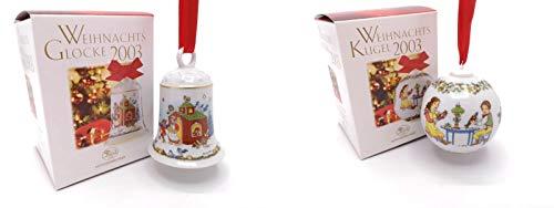 Hutschenreuther Weihnachtsglocke 2003, Porzellanglocke, Weihnachten