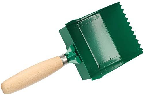 KOTARBAU Klebekelle 100 – 420 mm Holzgriff Plankelle Porenbetonkelle Gasbetonkelle Mörtelbettkelle Plansteinkelle Betonschaufel Rechteckzahnung (115 mm)