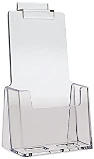 Source One 2 Pack Clear Slotwall Trifold Brochure Holders (2Slot-TriFolds)