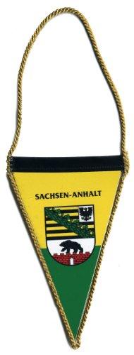 Wimpel mit beidseitigem Motivdruck - SACHSEN-ANHALT - Gr. ca. 77 x 125mm - 07707 - Flagge Banner Fahne