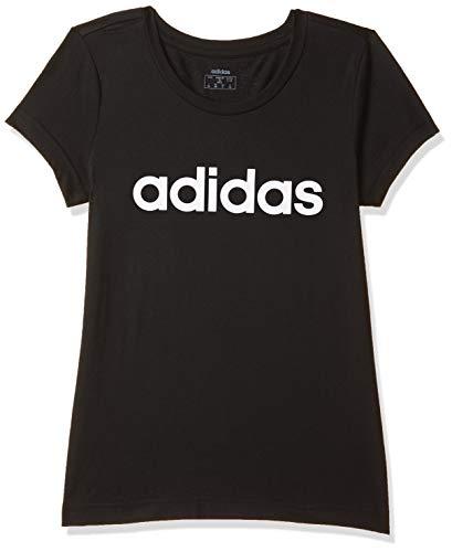 adidas Mädchen Essential Linear T-Shirt, Black/White, 152