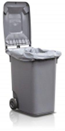 Auskleidesäcke für Mülltonnen 360 l, 850/600 x 1450 mm in grau, Typ 100 extra starke Qualität, 50 Stück