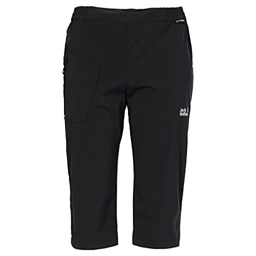 Jack Wolfskin Damen Hose Accelerate 3/4 Pants Women, Black, 36