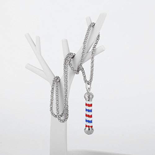 Collar Regalo Herramienta de decoración cómoda Collar de peluquería Único para Hombres para peluqueros(Silver)