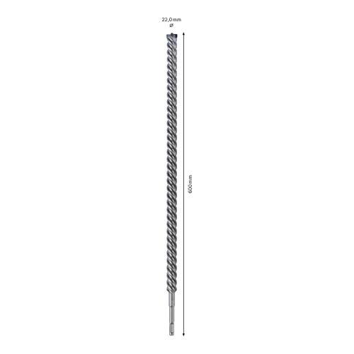 Bosch Professional Hammerbohrer SDS-plus-7X, Ø 22mm Bohrer, Arbeitslänge 550mm