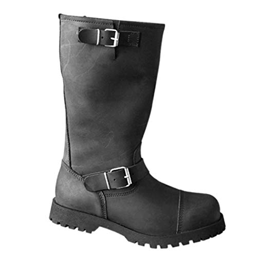 Boots & Braces - Motorcycle Biker Stiefel Schwarz Größe 43 (UK9)