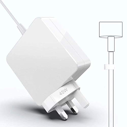 45W Magnetic T-Tip Power Adapter Charger Replacement for Mac Book Air 11/13 inch, Compatible With Mac Book Air Charger Released After Mid 2012 UK/EU PLUG