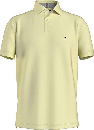 Tommy Hilfiger 1985 Regular Polo, Camisa de polo Hombre, Limón Esmerilado, M