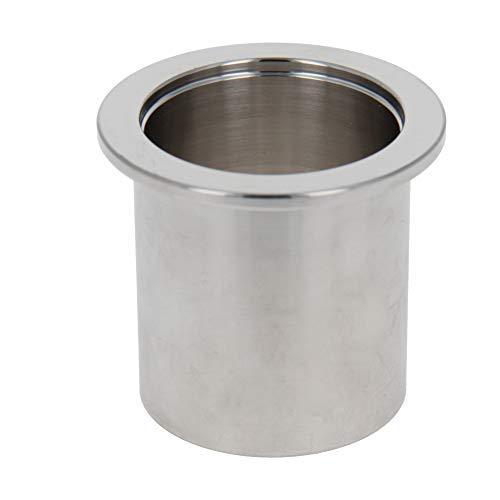 Virola de tubo de vacío Acero inoxidable 304 Brida de 55 mm Diámetro de soldadura de tubo de vacío en la virola 1PCS 50mm Longitud