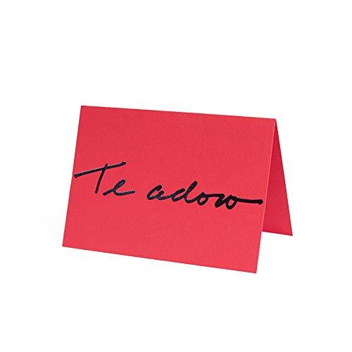 Cartão Fabriano Te Adoro Vermelho, Teca, Ge0002, Vermelho