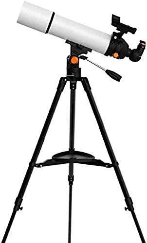 DINGZXC Telescopio Telescopio Astronómico para Principiantes,Mirando Fijamente 5000 Deep Space Hd Visión Nocturna,Los Niños Estudiantes Caza Estrella Monóculo/Blanco / 8cm