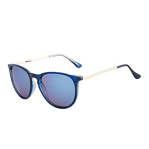 hqpaper Gafas de sol Gafas de sol retro Gafas de conductor clásicas europeas y americanas-Marco azul transparente Película azul