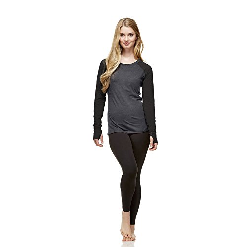 Price comparison product image Hottotties Women's Thermal Shirt Top,  Heather Grey