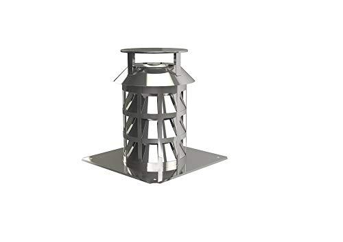 Schornstein Kamin Zugverbesserer Rauchsauger auf Ankerplatte Ø 180 mm
