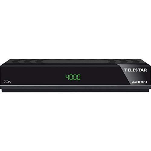 Telestar digiHD TS 14 HDTV-Satelliten Receiver (DVB-S, DVB-S2, Alexa, Google Home, PVR Ready, HDMI, Scart, USB) schwarz