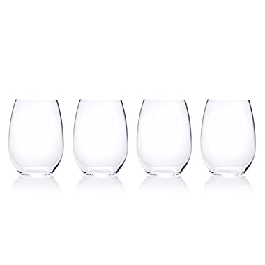 Mikasa Laura Stemless Wine Glass, 18.25-Ounce, Set of 4