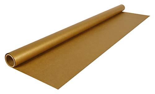Clairefontaine 95775C Rolle (goldfarbenes Kraftpapier, 3 x 0,70 m, 60 g, PEFC, ideal für Ihre Bastelprojekte) 1 Stück gold
