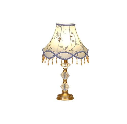 JPVGIA Flor de cristal Lámpara de mesa Personalidad Simple Dormitorio moderno Decoración de moda Lámpara Lámpara de escritorio Luz de noche cálida