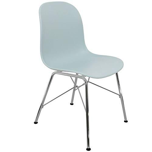 Chaise Privee™ - Stuhl Skandinavischer Bristol SNR - Eisblau, Chrom