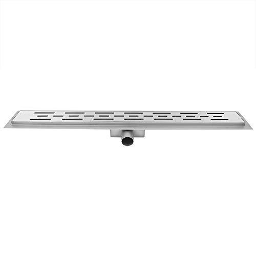 Uitla douchegoot, doucheafvoer van roestvrij staal, voor vloerbedekking met tegels, 60 cm, voor keuken in de badkamer (zijdelingse afvoer)