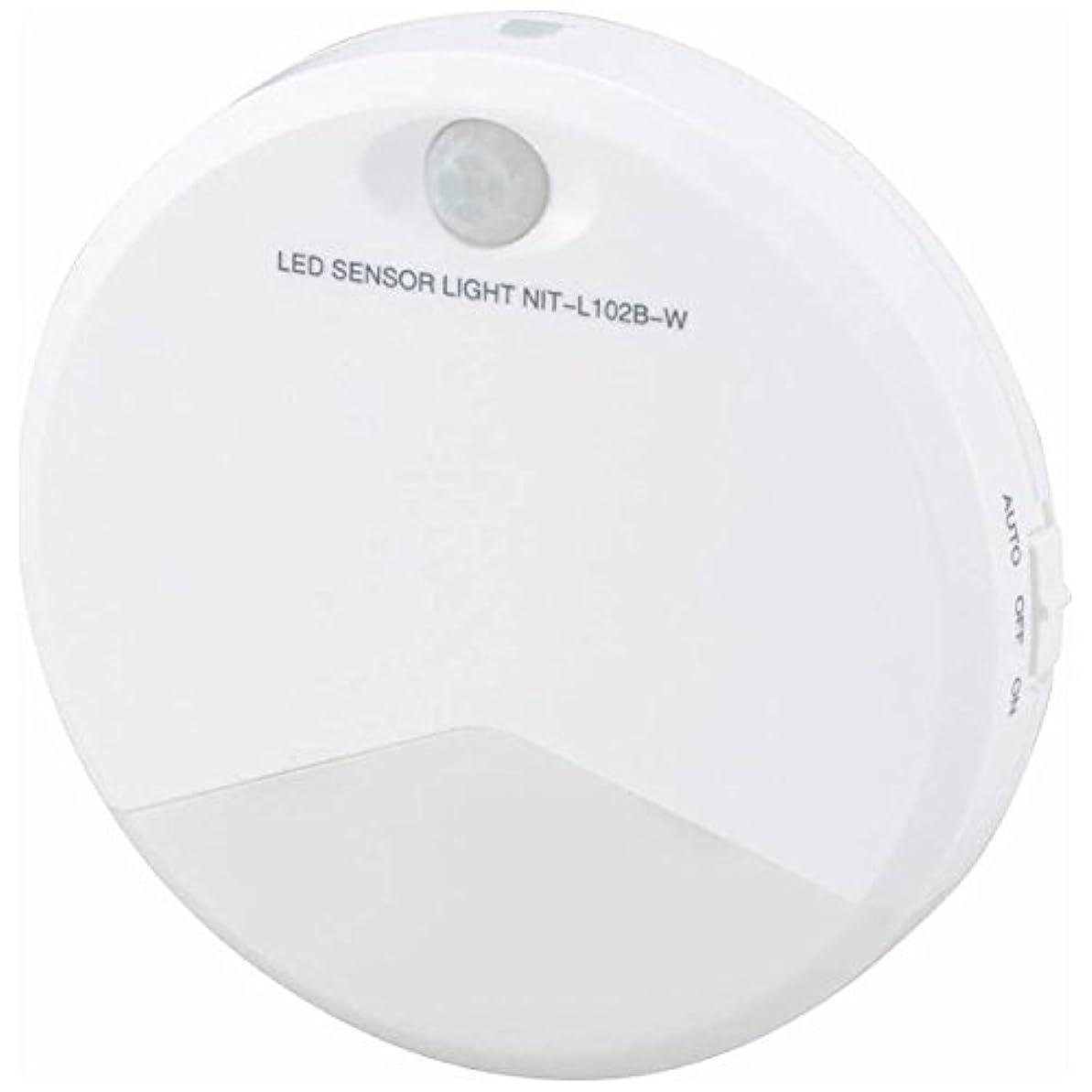 同性愛者写真を描く識別するOHM LEDセンサーライト NIT-L102B-W 933783