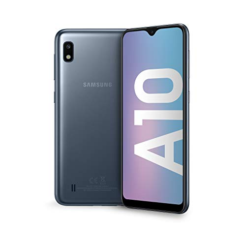 "Samsung Galaxy A10 Smartphone, Display 6.2"" HD+, 32 GB Espandibili, RAM 2 GB, Batteria 3400 mAh, 4G, Dual SIM, Android 9 Pie, [Versione Italiana], Black"