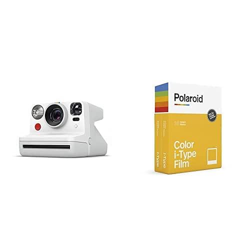Polaroid - 9027 - Polaroid Now Fotocamera Istantanea i-Type, Bianco + 6009 - Pellicola Istantanea Colore per i-Type – Confezione Doppia