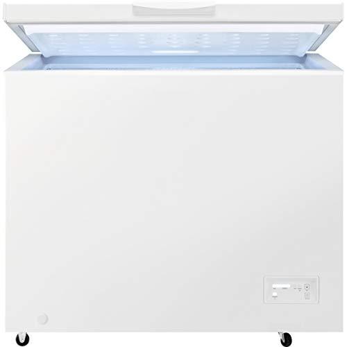 Zanussi ZCAN20FW1 Arcón congelador, Capacidad 198 Litros, 1 cesto, Compresor Inverter, Congelación Rápida, Display LCD, Alarma acústica y visual luminosa, Blanco