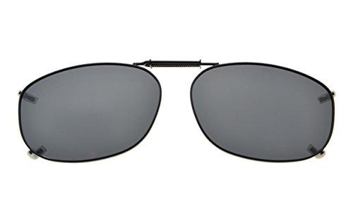 Eyekepper metalen volledige frame velg gepolariseerd grijs Lens Clip op zonnebril 54 * 37MM