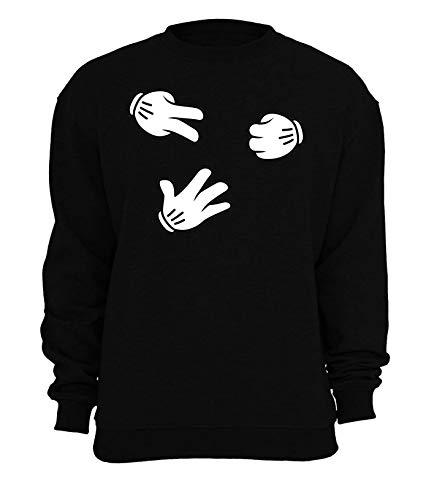 Hipster Rock Paper Schaar Cartoon Handschoenen Unisex Sweatshirt