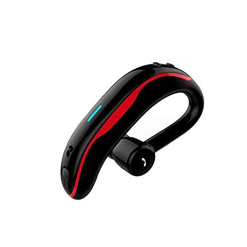 SLuB Auricolare Bluetooth Auricolare Wireless Mani libere con Microfono Auricolare Impermeabile V4.1 Cuffie per Auto Adatto a Tutti i dispositivi Bluetooth (Rosso)